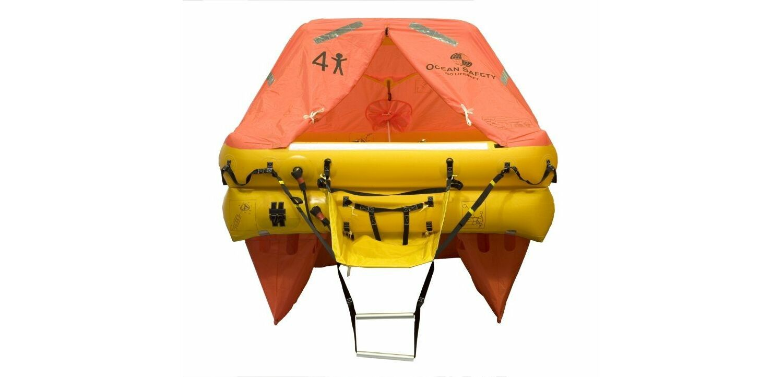 Ocean Safety Ocean 4C 4 Person ISO9650 SOLAS B Liferaft