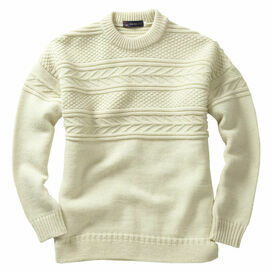 Pure British Wool Guernsey Sweaters in Navy or Ecru