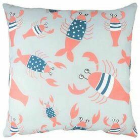 ''Lobster Cushion'' - Blue