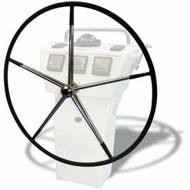 """Lewmar 48"""" Mini Maxi Wheel, 10 Spoke with Hide Cover and Spats."""