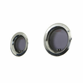 Lewmar Round Stainless Steel Portlight with Grey Acrylic 250mm Diameter Grey Handles
