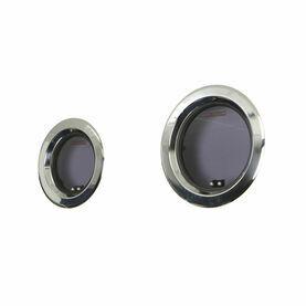 Lewmar Round Stainless Steel Portlight with Grey Acrylic 296mm Diameter Black Handles