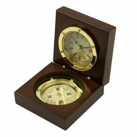 Admiral\'s Clock & Compass Box -  9x9cm