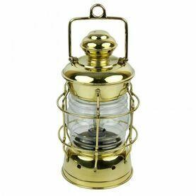 Brass Nelson Electric Lamp - 33cm
