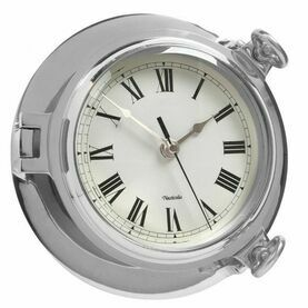 Chrome Bridge Clock - 18cm