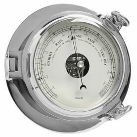 Chrome Bridge Barometer - 18cm