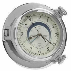 Chrome Bridge Tide Clock - 18cm