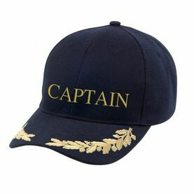 Nauticalia 'Captain & Gold Leaf' Yachting Cap