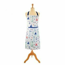 Nauticalia - Nautical Apron with Pocket, 89x70cm