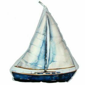 Nauticalia Sailboat Shaped Cushion, 29cm