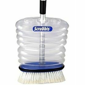 Scrubbis DipDeck Brush With Built-In Water Container and Handle Set