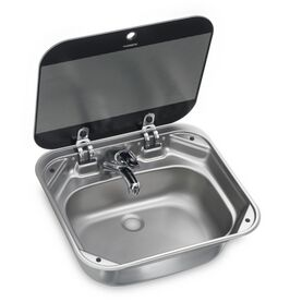 Dometic SNG 4237 Square Sink With Glass Lid