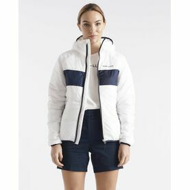 Henri Lloyd Women's Mav HV Liner Hooded Jacket (Cloud White, Navy Blue, Power Orange & Navy Block)