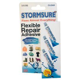Stormsure Flexible Repair Adhesive - 3 x 5g (Clear)