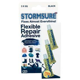 Stormsure Flexible Repair Adhesive - 3 x 5g (Black)