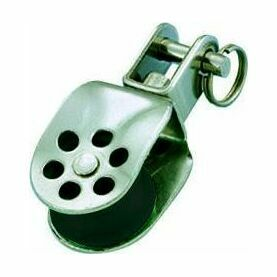 Wichard 24mm Stainless Steel Block: Double/Becket/Shackle