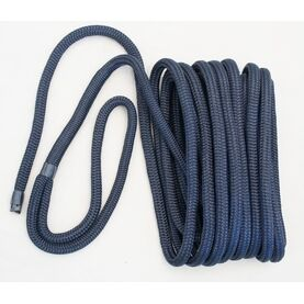 Meridian Zero Double Braided Polyester Mooring Lines - Navy