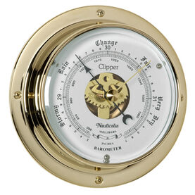 Clipper Barometer Brass