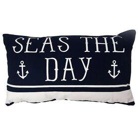 Nauticalia Rectangular 'Seas The Day' Cushion