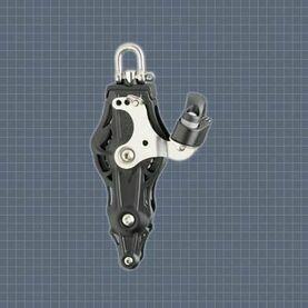 Wichard 70mm ball bearing Block: Fiddle Swivel/Becket/Cam