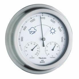 Nauticalia Stainless Steel Barometer, Hygro & Thermometer