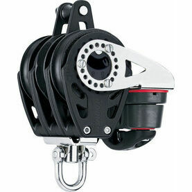 Harken 57 mm Triple Ratchet Block Swivel, Becket, Cam Cleat