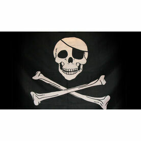 Nauticalia Pirate Jolly Roger Flag - 46 x 23cm