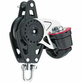 Harken 57 mm Block Swivel, Becket, Cam Cleat