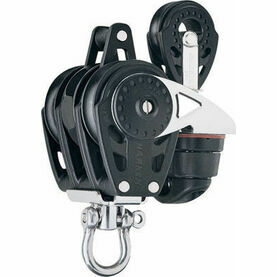 Harken 40 mm Triple Ratchet Block Swivel, Becket, Cam Cleat, 29mm Block