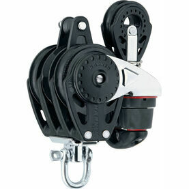Harken 57 mm Triple Ratchamatic Block Swivel, Cam Cleat, 40 mm Block
