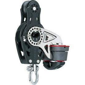 Harken 57 mm Fiddle Ratchet Block Swivel, Cam Cleat