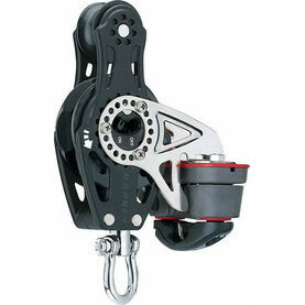 Harken 75 mm Fiddle Ratchet Block Swivel, Cam Cleat