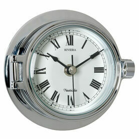 Nauticalia Chrome Riviera Clock
