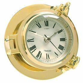 Nauticalia Brass Cabin Clock