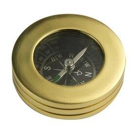 Nauticalia Brass Paperweight Compass