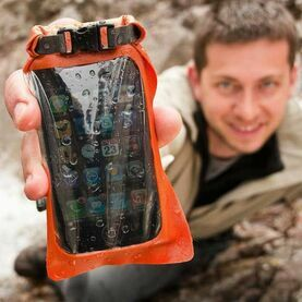 Aquapac Mini Stormproof Waterproof Phone Case - Orange