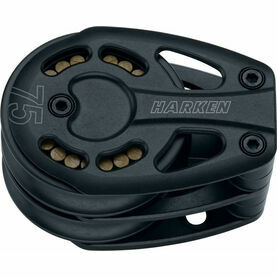 Harken 75 mm Aluminum Double Footblock