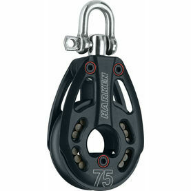 Harken 75 mm Aluminum Low-Load Block Swivel