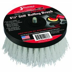 "Shurhold 6.5"" Stiff Polypropylene Buffing Brush - White"