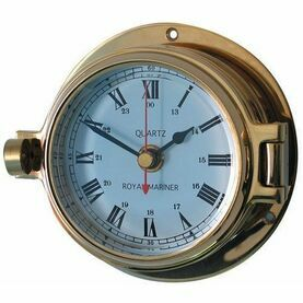 Meridian Zero Brass Channel Nautical Clock