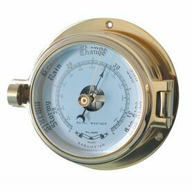 Channel Brass Barometer