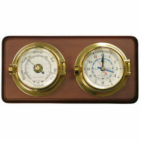 Meridian Zero Brass Channel Tide Clock & Barometer on Board