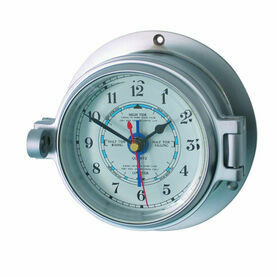 Matt Chrome Channel Tide Clock