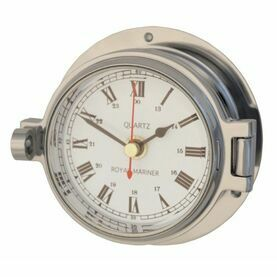 Meridian Zero Polished Chrome Channel Clock