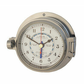 Meridian Zero Polished Chrome Channel Tide Clock