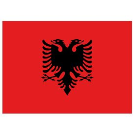 Meridian Zero Albania Courtesy Flag - 30 x 45cm
