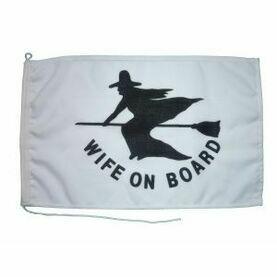 Meridian Zero Wife on Board Flag - 30 x 45cm