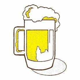 Meridian Zero Drinking Beer Flag - 30 x 45cm