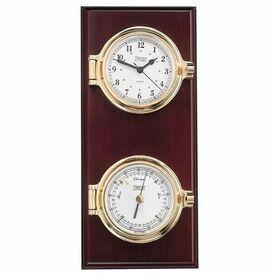 Weems & Plath Cutter Plaque Clock & Barometer
