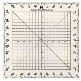"Weems & Plath Chart Plotting 5"" Square Protractor"